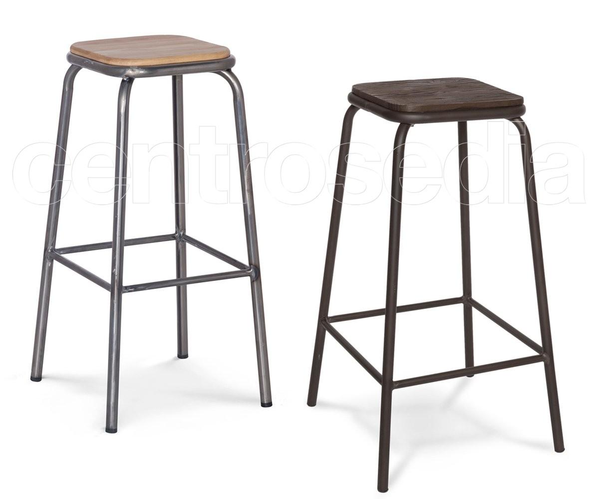 College sgabello alto seduta legno sgabelli vintage e