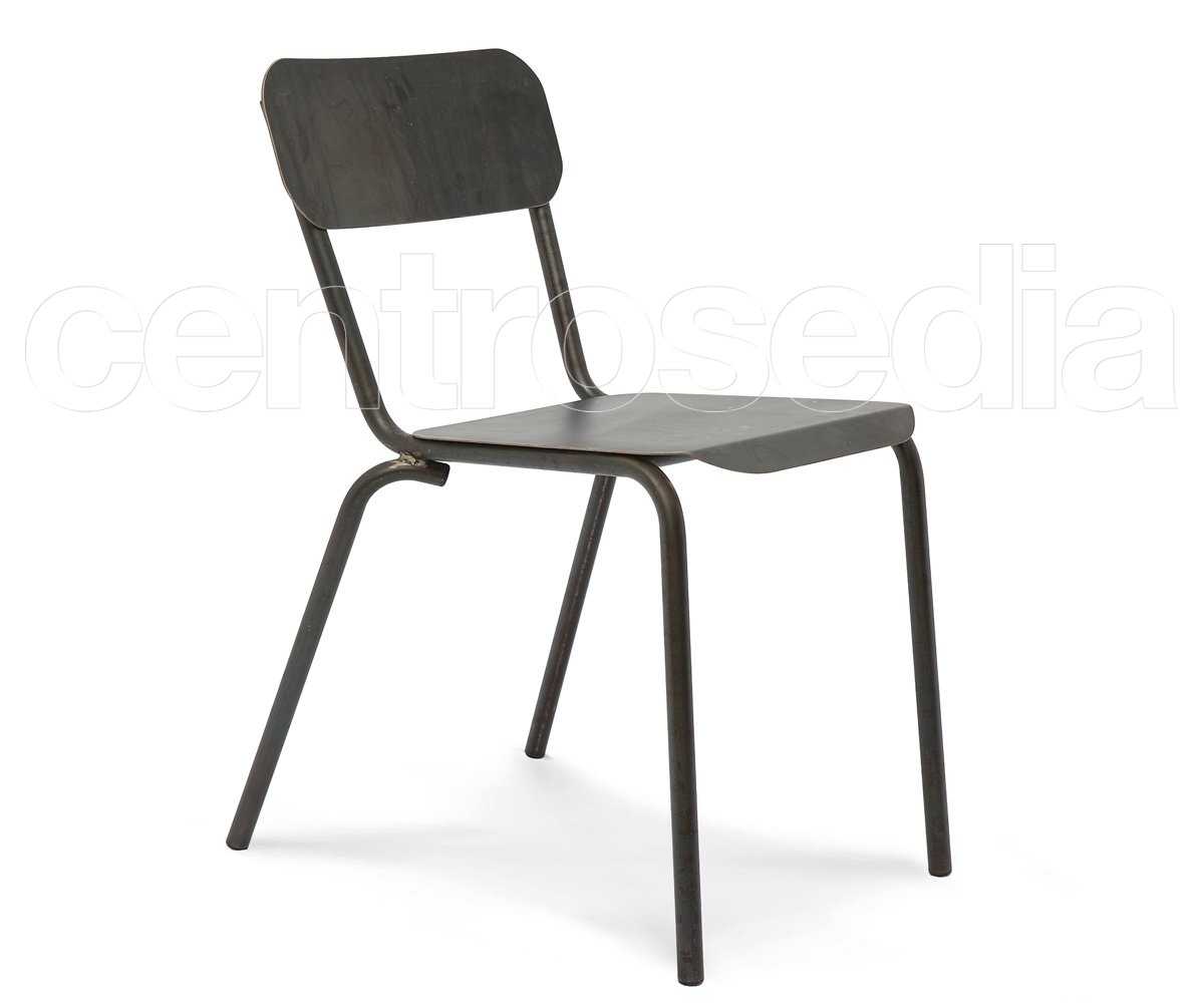 kira sedia metallo sedie vintage e industriali centrosedia