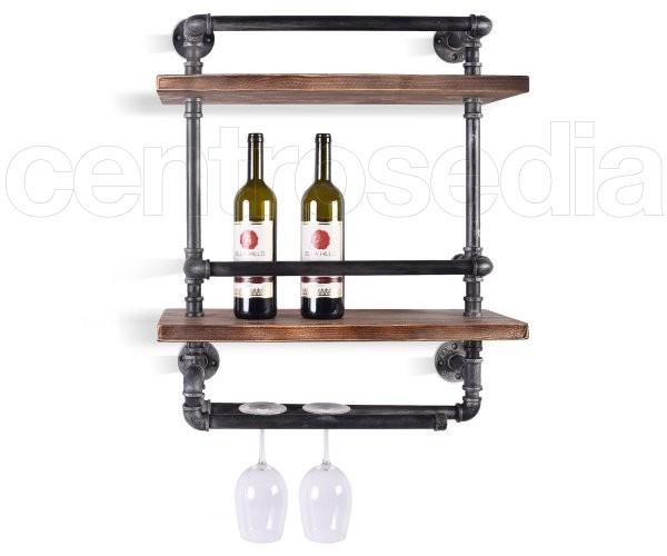 Cognac Porta Oggetti a 2 Mensole