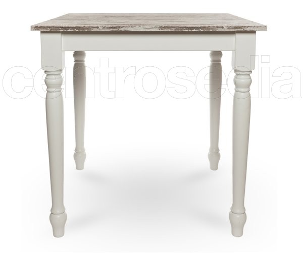 Wooden shabby chic table turned legs vintage industrial tables
