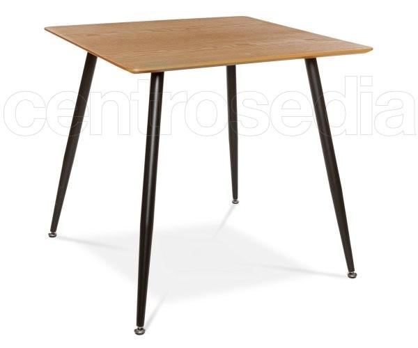 Tavolo Industriale Quadrato : Clift tavolo metallo legno quadrato tavoli vintage e industriali