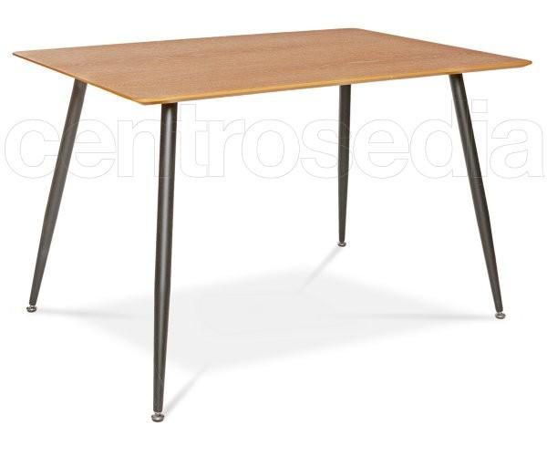 Clift Tavolo Metallo legno Rettangolare