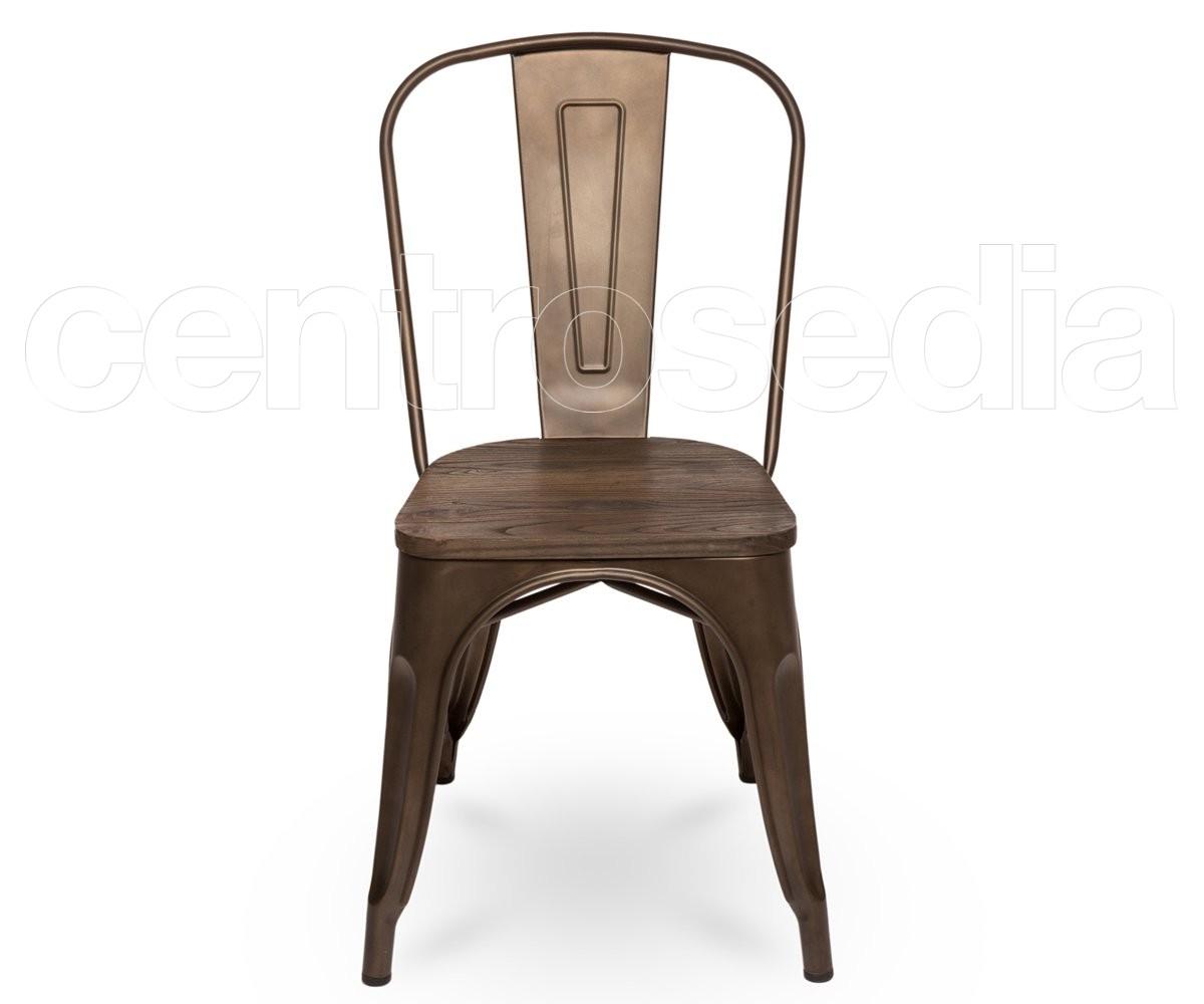 Sedie In Ferro Vintage.Virginia Old Style Metal Chair Wood Seat Vintage Industrial