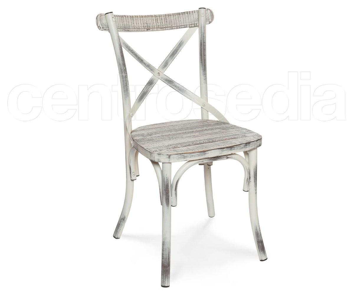 Cross sedia metallo vintage retro 39 seduta legno sedie for Sedie design metallo