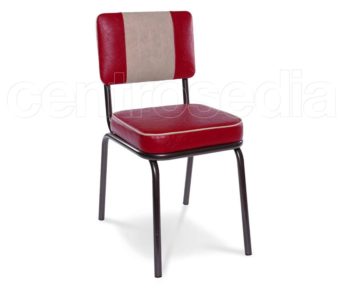 Club sedia vintage metallo imbottito sedie vintage e for Sedia design vintage
