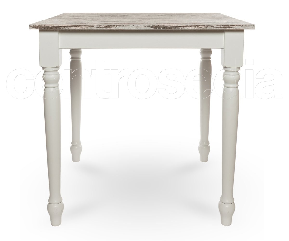 Wooden Shabby Chic Table - Turned legs - Vintage Industrial Tables ...