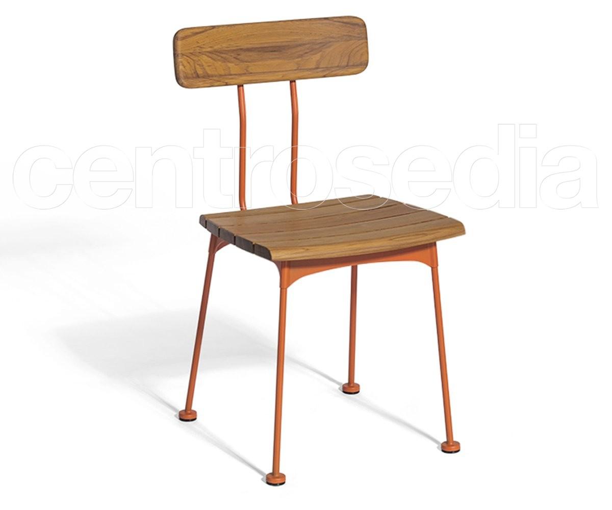 Sedie Schienale Alto Legno : Gigì sedia legno metallo sedie vintage e industriali centrosedia