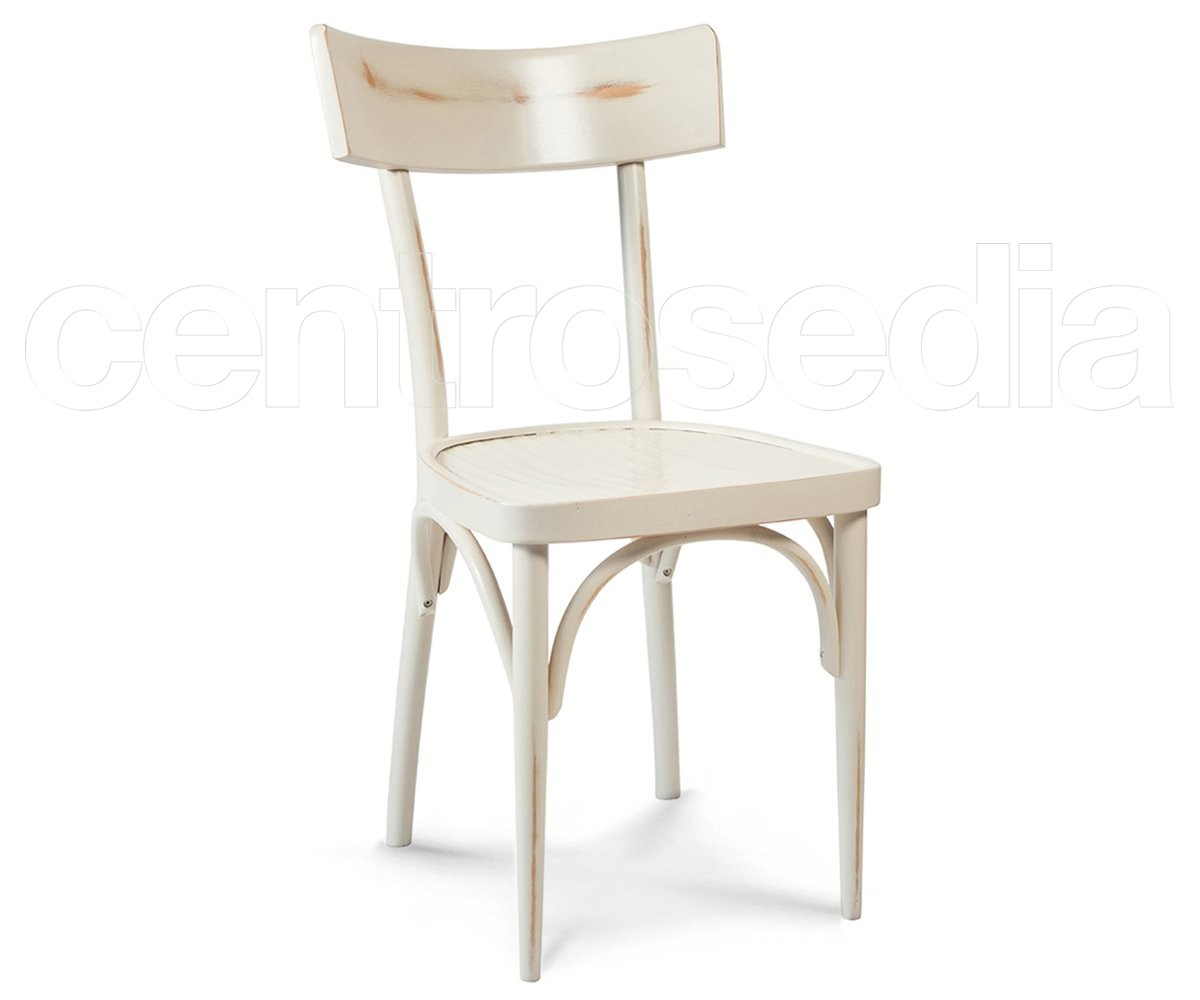 Milano Archi Pickled Wood Chair Shabby Chic Chairs Centrosedia