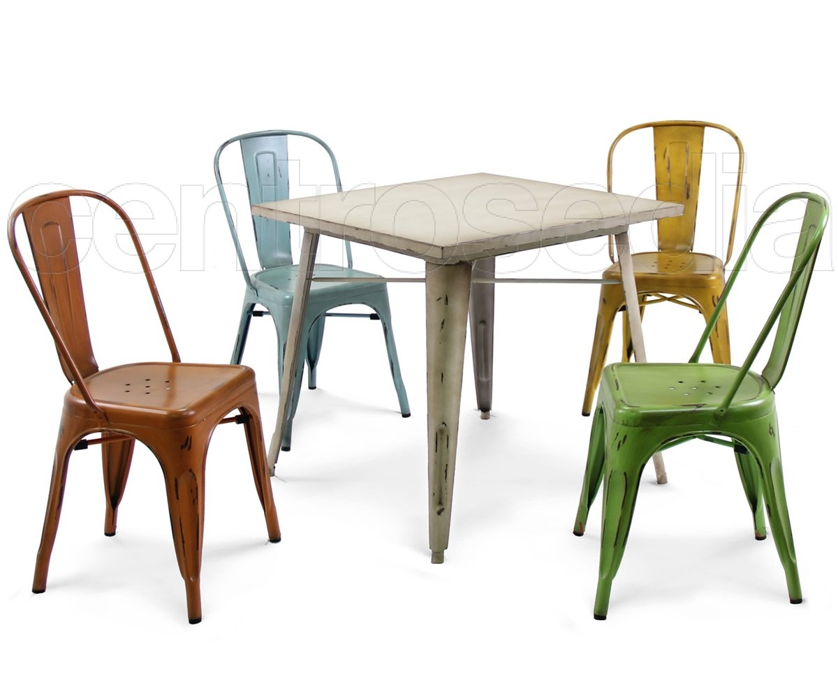 Sedie Vintage Colorate : Virginia sedia metallo vintage sedie alluminio metallo centrosedia