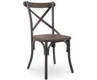 Cross Sedia Metallo Old Style - Seduta Legno