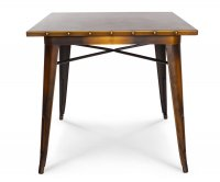 Ares Metal Table Studded Top 80x80cm