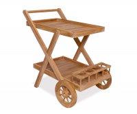 """""""Mulah"""" Teak Wooden Food trolley"""