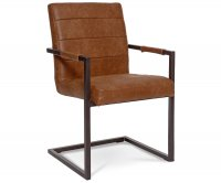 """Clio"" Metal Upholstered Chair"