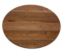 Round Solid Elm Wood Top